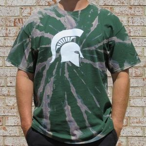 Michigan Spartans Custom Spiral Bleach Tee sz XXL